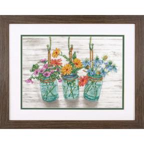 Набор для вышивки крестом Dimensions 70-35378 Flowering Jars