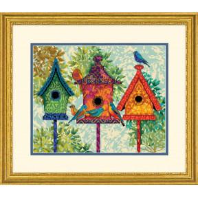 Набор для вышивки крестом Dimensions 71-20088 Colorful Birdhouses