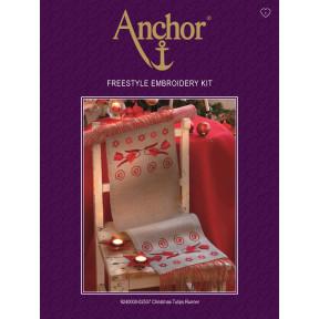 Набор для вышивания гладью  Anchor 02057 Рождественские тюльпаны