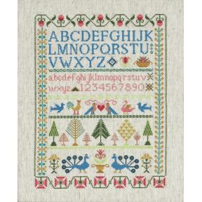 Набор для вышивания гладью Anchor CC78962 Викторианский Семплер