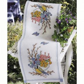 Набор для вышивания крестом Anchor 02114 Голубая синица и цветы