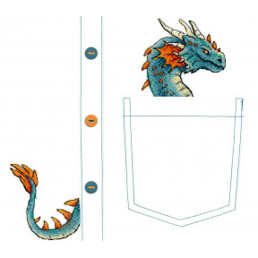 Набор для вышивки крестом МП Студия В-252 Благородный дракон