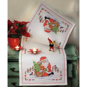 Набор для вышивания крестом Anchor 02507 Санта Клаус фото
