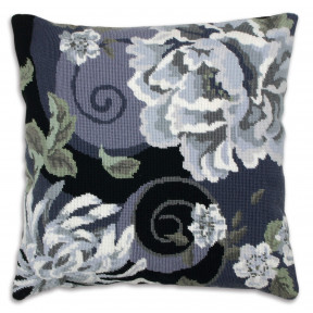 Набор для вышивания гобеленом Anchor ALR02 Цветочный порыв в черном