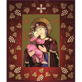 Набор для вышивания бисером Изящное Рукоделие БП-116 Богородица Владимирская