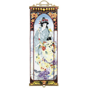 Набор для вышивки крестом Чарівна Мить М-325 Гейша с орхидеями