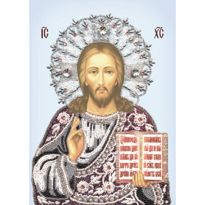 Набор для вышивания бисером Изящное Рукоделие БП-117 Богородица Владимирская в рамке