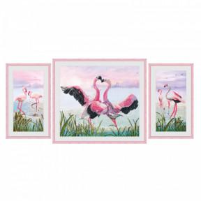 """Набор для вышивания крестом Нова Слобода СР-6550 """"Танец фламинго"""""""