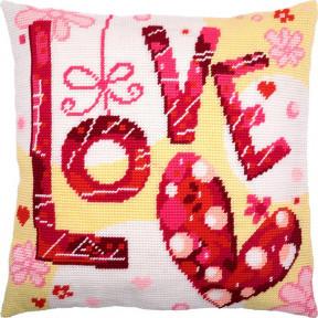 Набор для вышивки подушки Чарівниця V-223 Love