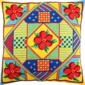 Набор для вышивки подушки Чарівниця V-225 Цветы