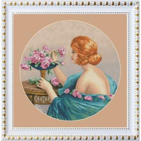 Набор для вышивания крестиком OLanTa VN-112 Девушка с розами
