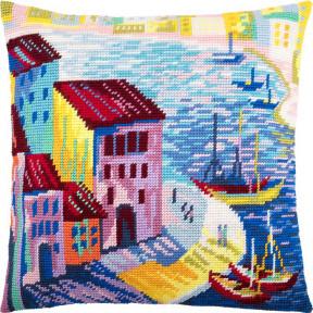 Набор для вышивки подушки Чарівниця V-230 Гамбург