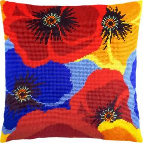Набор для вышивки подушки Чарівниця V-234 Маки