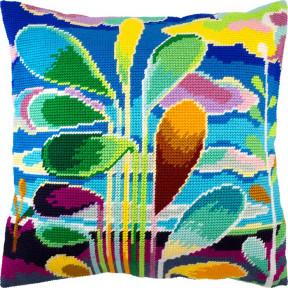 Набор для вышивки подушки Чарівниця V-243 Абстракция (деревья)