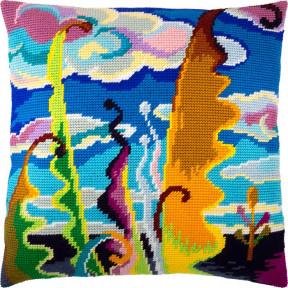 Набор для вышивки подушки Чарівниця V-244 Абстракция (небо)