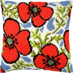 Набор для вышивки подушки Чарівниця Z-72 Маки фото
