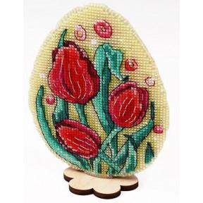Набор для вышивки крестом Alisena 8000 Пасхальная – тюльпаны
