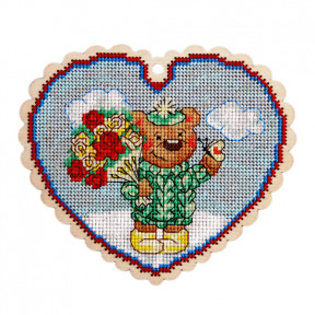 Набор для вышивки крестом Alisena 5545 Валентинка – Божья коровка