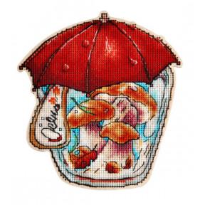 Набор для вышивки крестом Alisena 5548 Баночка – Осень фото