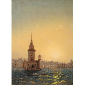 """Набор для вышивки крестом Panna ГТГ-7099 """"Вид Леандровой башни в Константинополе"""""""