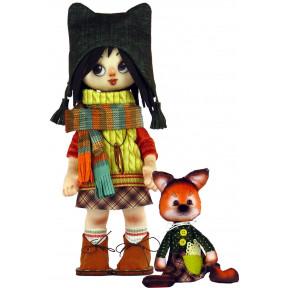 Набор для шитья куклы и мягкой игрушки ZooSapiens К1071 Девочка с мишкой