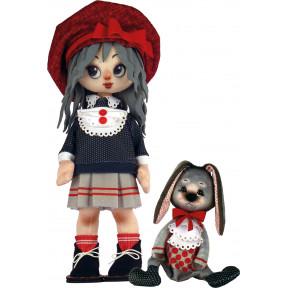 Набор для шитья куклы и мягкой игрушки ZooSapiens К1073 Девочка с зайкой