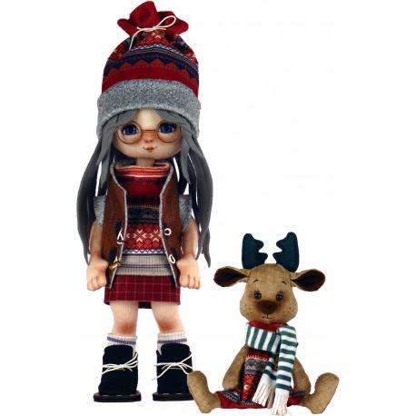 Набор для шитья куклы и мягкой игрушки ZooSapiens К1074 Девочка