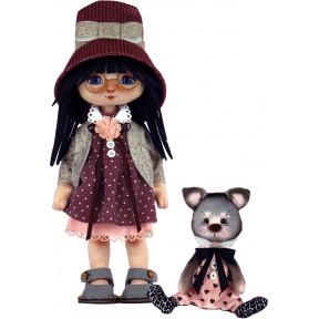 Набор для шитья куклы и мягкой игрушки ZooSapiens К1074 Девочка с лосиком