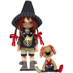 Набор для шитья куклы и мягкой игрушки ZooSapiens К1077 Девочка с собачкой