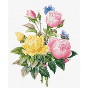 Набор для вышивки крестом Luca-S BU4003 Желтые розы и