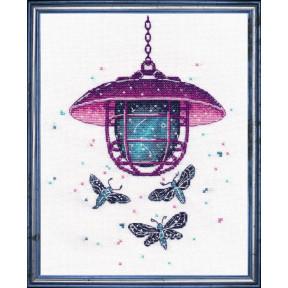 Набор для вышивки крестом Овен 1153 Фонарь с цветами