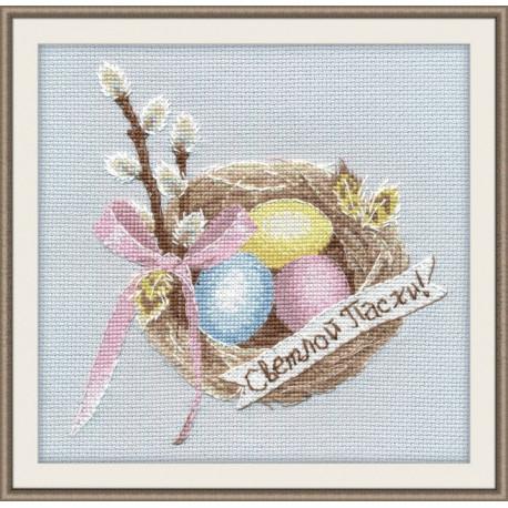 Набор для вышивки крестом Овен 1176 Светлой Пасхи фото