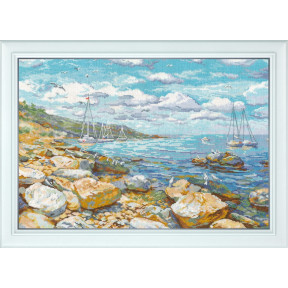 Набор для вышивки крестом Овен 1177 Крымский берег