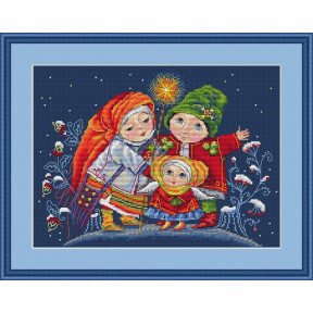Набор для вышивания крестом Мережка Різдвяна Зірка К-26