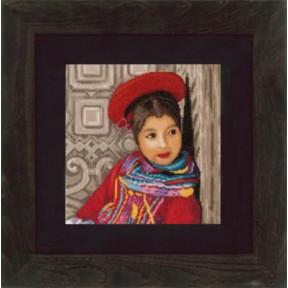 Набор для вышивания Lanarte PN-0148512 Цветочное лицо