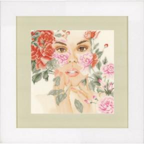 Набор для вышивания Lanarte PN-0148512 Цветочное лицо фото