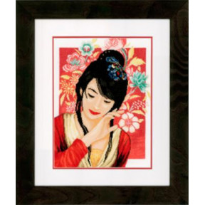 """Набор для вышивания Lanarte PN-0149999 Asian Flower Girl """"Азиатская девушка в цветах"""""""