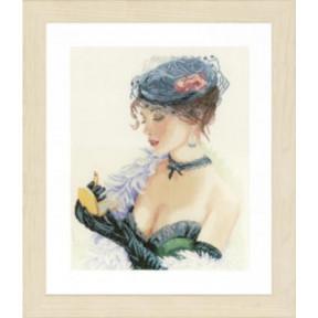 """Набор для вышивания Lanarte PN-0154332 Lady with a Lipstick """"Девушка с губной помадой"""""""