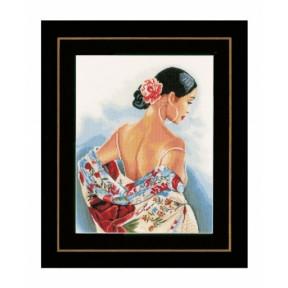 """Набор для вышивания Lanarte PN-0154992 Flower Scarf """"Цветочный"""