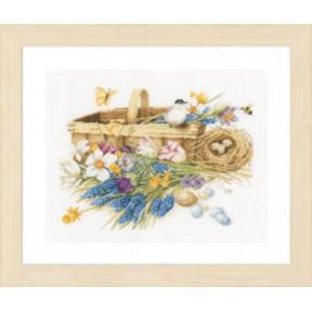 """Набор для вышивания Lanarte PN-0155029 Spring Flowers Basket """"Корзина весенних цветов"""""""