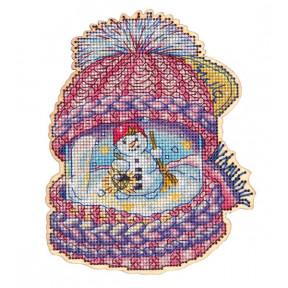 Набор для вышивки крестом Alisena 5549 Баночка – Зима фото