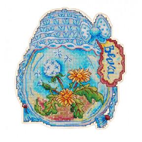 Набор для вышивки крестом Alisena 5550 Баночка – Весна фото