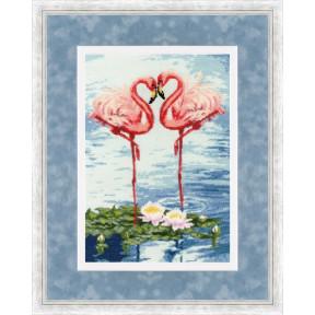 Набор для вышивки крестом Золотое Руно З-051 Свидание фламинго