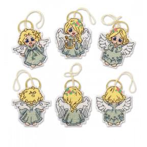Набор для вышивания крестом Риолис «Украшения «Ангелочки»»