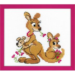 """Набор для вышивки крестом Риолис 1786 """"Где гуляли кенгуру"""" фото"""