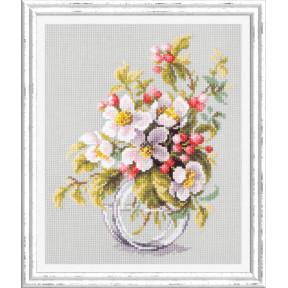 Набор для вышивки крестом Чудесная игла 100-011 Яблоневый цвет