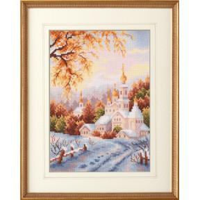 Набор для вышивки крестом Чудесная игла 110-061 Снежная обитель