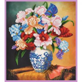 Набор для вышивания бисером Картины Бисером Р-396 Букет ирисов