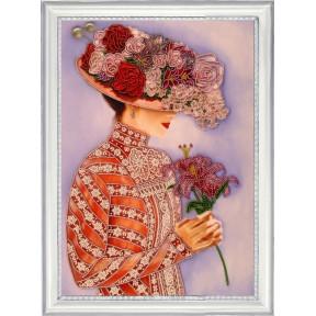 Набор для вышивания бисером Butterfly 822 Дама с лилиями фото