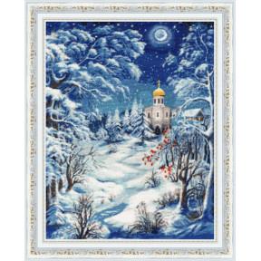 Набор для вышивки крестом Золотое Руно Волшебница-зима СО-014